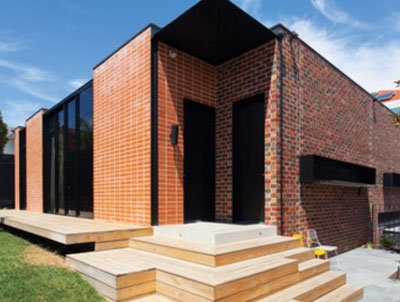 external brick walls
